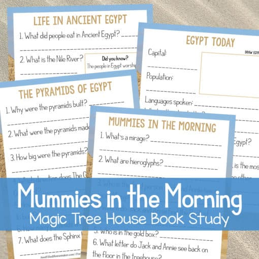 Mummies in the Morning (Magic Treehouse) Unit Study