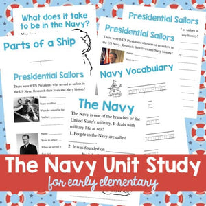 Navy Unit Study (Early Elementary)