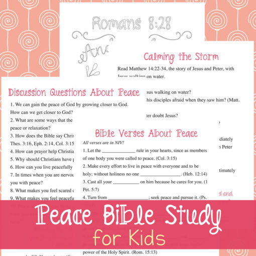 Peace Bible Study (for kids)