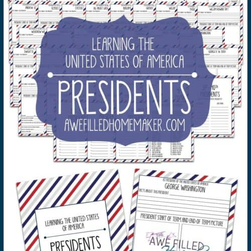Learning Through The United States : Presidents Unit Study