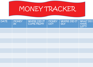 Money Tracker For Kids Printable