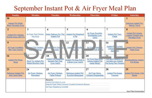 Instant Pot Meal Plan - September