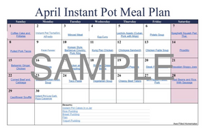 Instant Pot Meal Plan - April