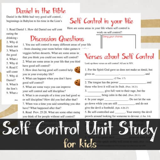 Self Control Unity Study For Kids