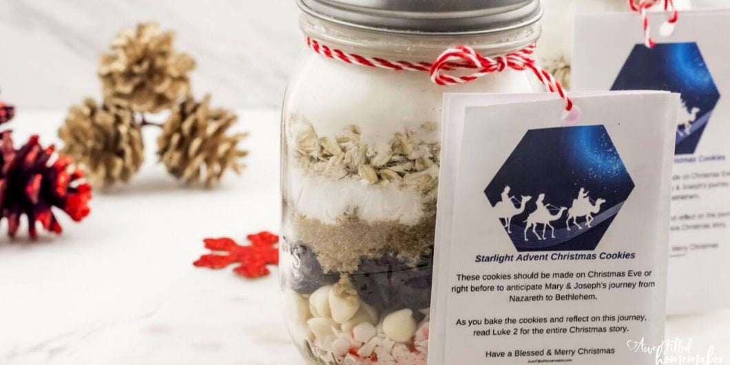 Starlight Advent Christmas Cookie Tags