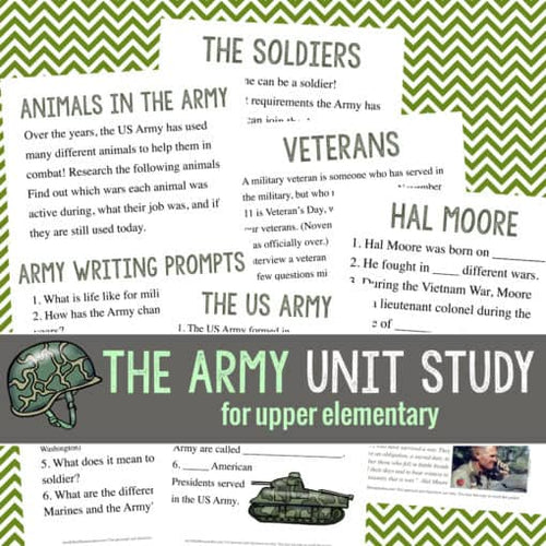 Army Unit Study (Upper Elementary)
