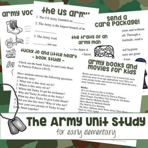 Army Unit Study (Early Elementary)