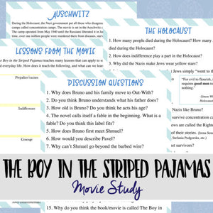 The Boy With The Striped Pajamas Study