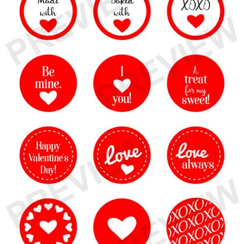 Valentine's Day Printable Tags
