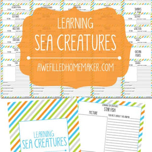 Sea Creatures Unit Study