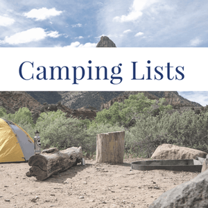 Camping Lists