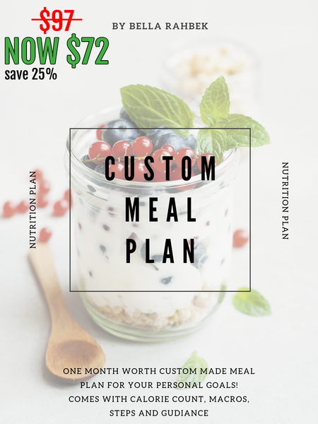 CUSTOM MEAL PLAN 25% OFF