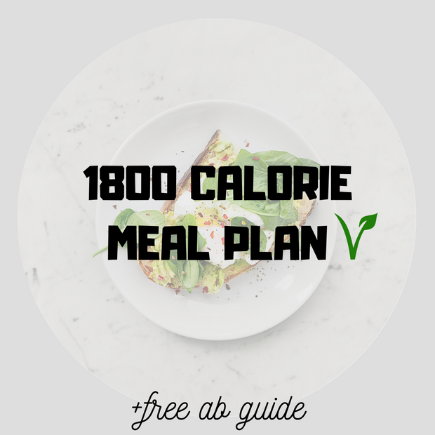 1800 Calorie Meal Plan Vegan