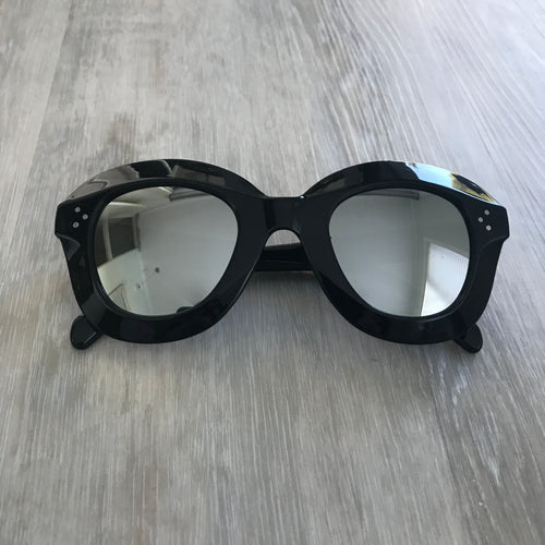 Mila Glasses Black and Silver