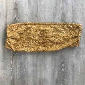 Gold Sequin Tube Top