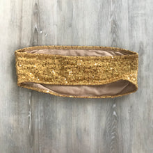 Load image into Gallery viewer, Gold Sequin Tube Top