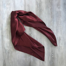 Load image into Gallery viewer, Burgundy Satin Hair scarf