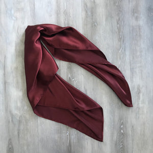Burgundy Satin Hair scarf