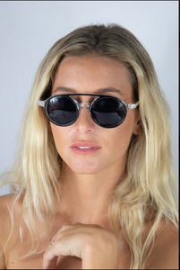 Albany Sunglasses Black and clear