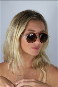Albany Sunglasses Clear Tortoise shell
