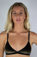 Load image into Gallery viewer, Velvet Leopard Print Bralette
