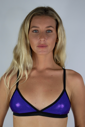 Purple metallic Bralette