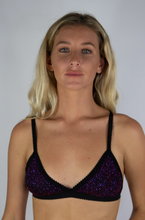 Load image into Gallery viewer, Purple Sparkly Bralette