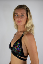 Load image into Gallery viewer, Rainbow Sequin Bralette