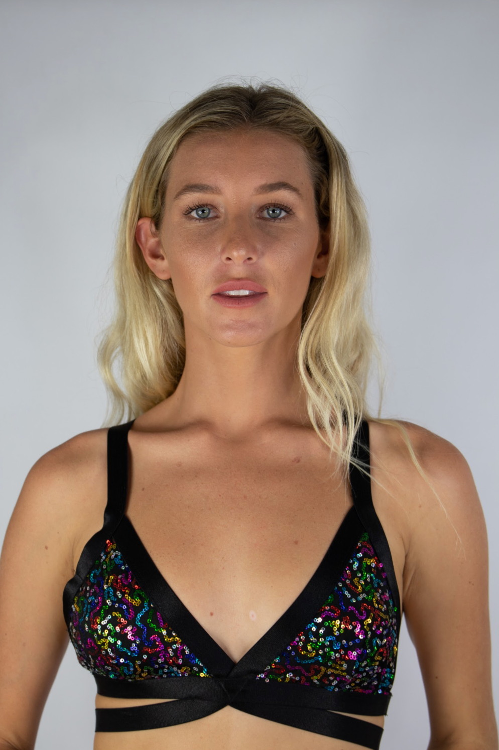 Rainbow Sequin Bralette