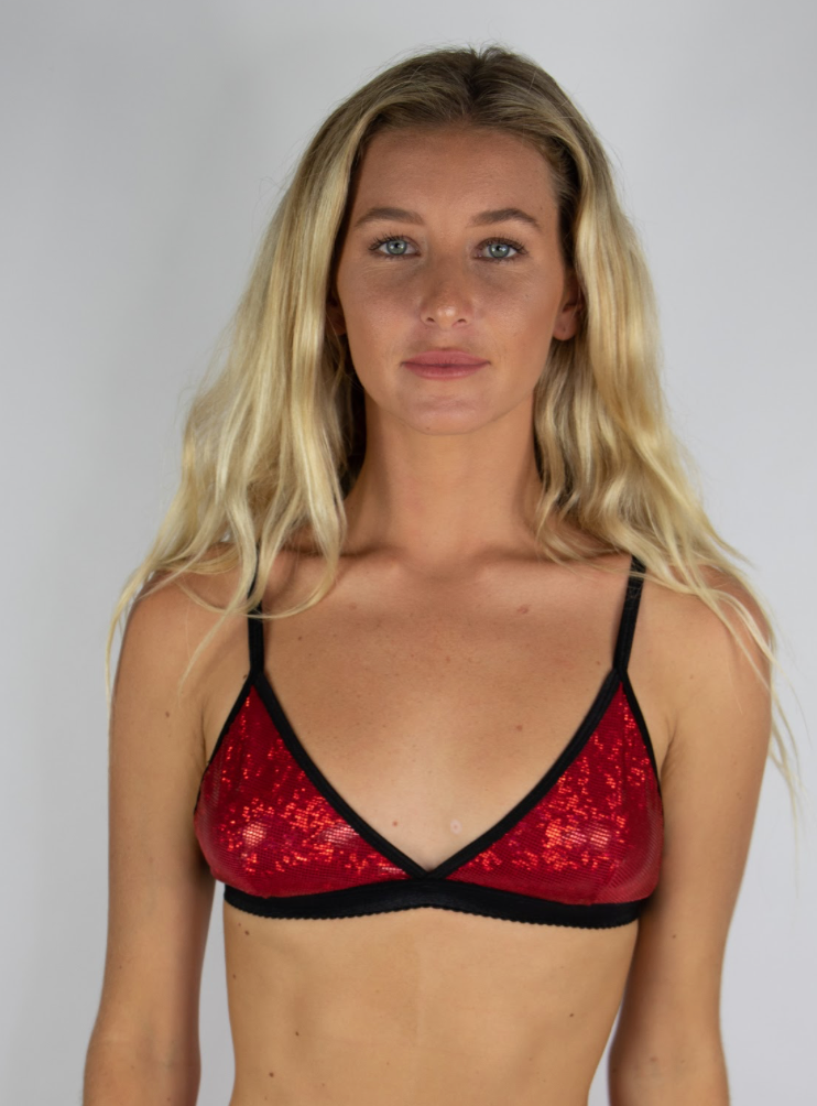 Red Holographic Bralette
