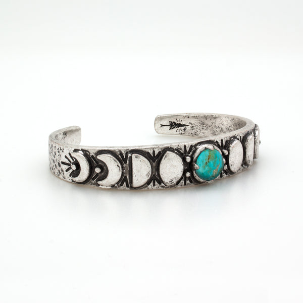 Turquoise Moon Phases Cuff Bracelet