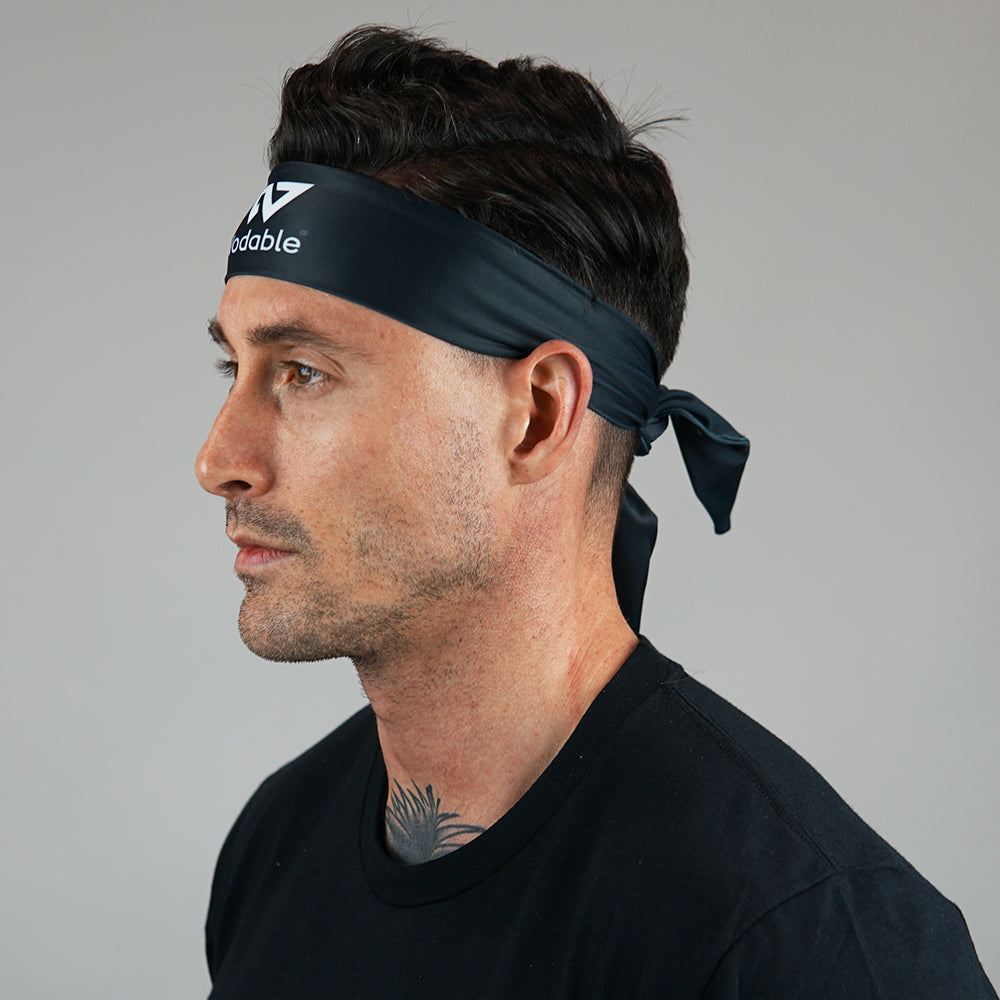 Black Tie Up Headband
