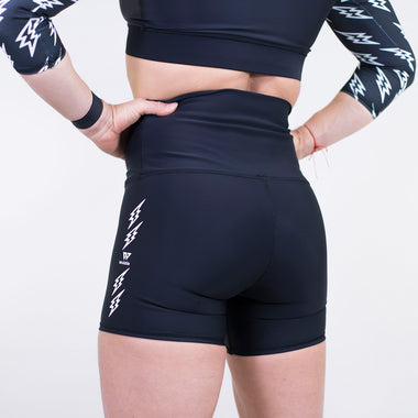 Bolt High Waist Shorts