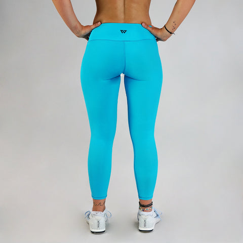 Core Leggings - Aqua 7/8