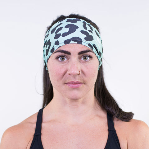 Spearmint Leopard Headband