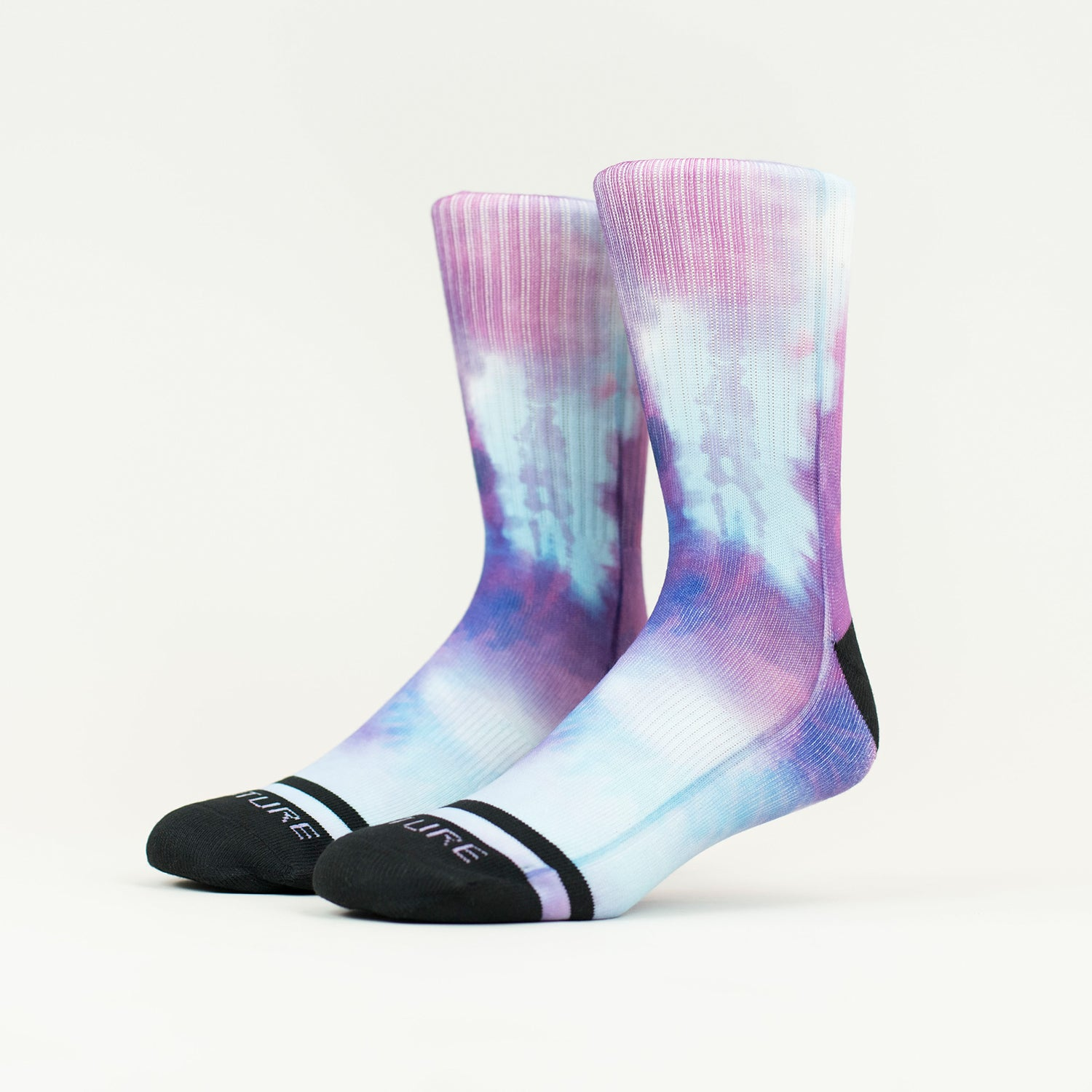 Purple Rain Tie Dye Socks