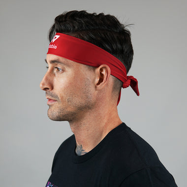 Red Tie Up Headband