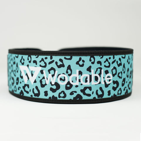 Spearmint Leopard Weightlifting Belt