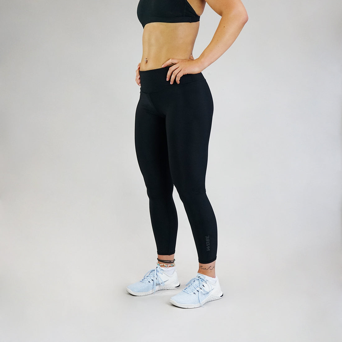 Core Leggings - Stealth Black 7/8