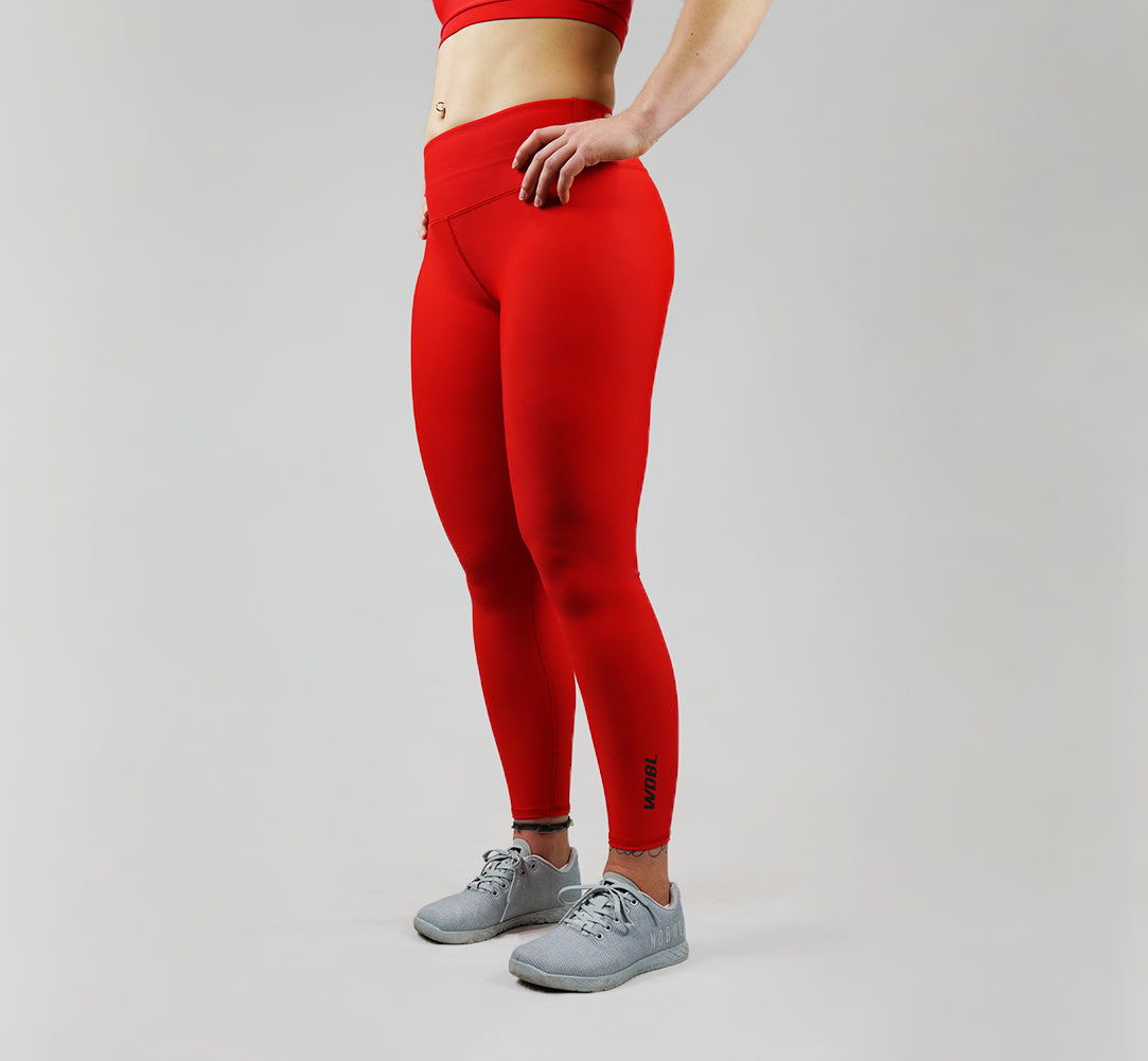 Core Leggings - Cherry Red 7/8