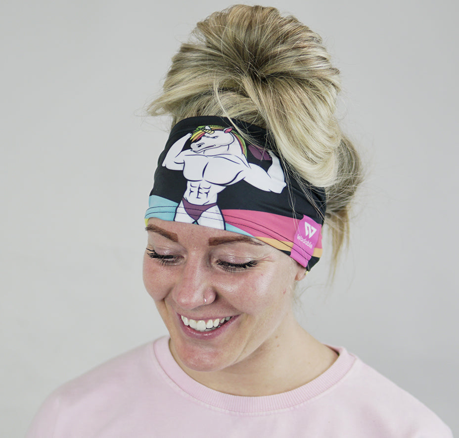 Jacked Unicorn Headband - Black