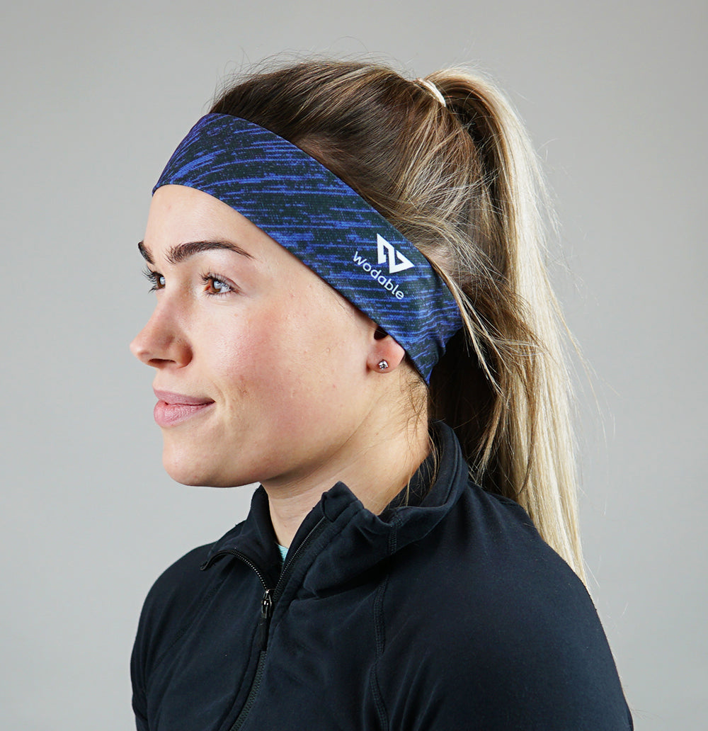 Heather Blue Thin Headband