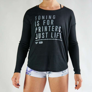 Toning For Printers Flowy Warm Up Shirt