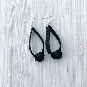 Knotted Leather Earrings