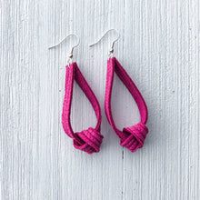 Load image into Gallery viewer, Knotted Leather Earrings