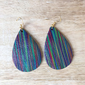 Rainbow Leather Earrings