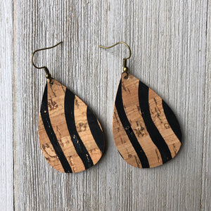 Tiger Cork Earrings