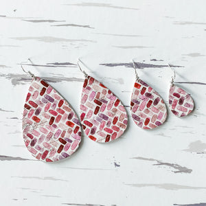50 Shades of Love Leather Earrings - February Featured FLD