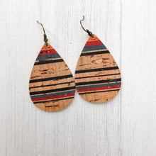 Load image into Gallery viewer, Striped Cork Earrings
