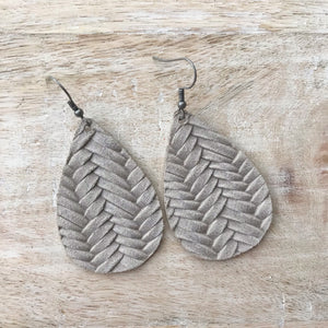 Stonewash Leather Earrings